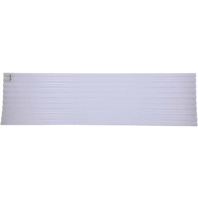 Tuftex Seacoaster 26 In. x 8 Ft. Crystal Clear w/Light Blue Tint Round Wave Vinyl Corrugated Panels