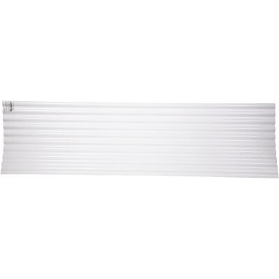 Tuftex Seacoaster 26 In. x 8 Ft. Opaque White Round Wave Polycarb & Vinyl Corrugated Panels