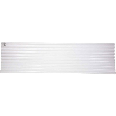 Tuftex Seacoaster 26 In. x 8 Ft. Opaque White Round Wave Vinyl Corrugated Panels