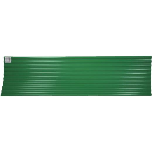 Tuftex Seacoaster 26 In. x 8 Ft. Opaque Green Round Wave Polycarb & Vinyl Corrugated Panels