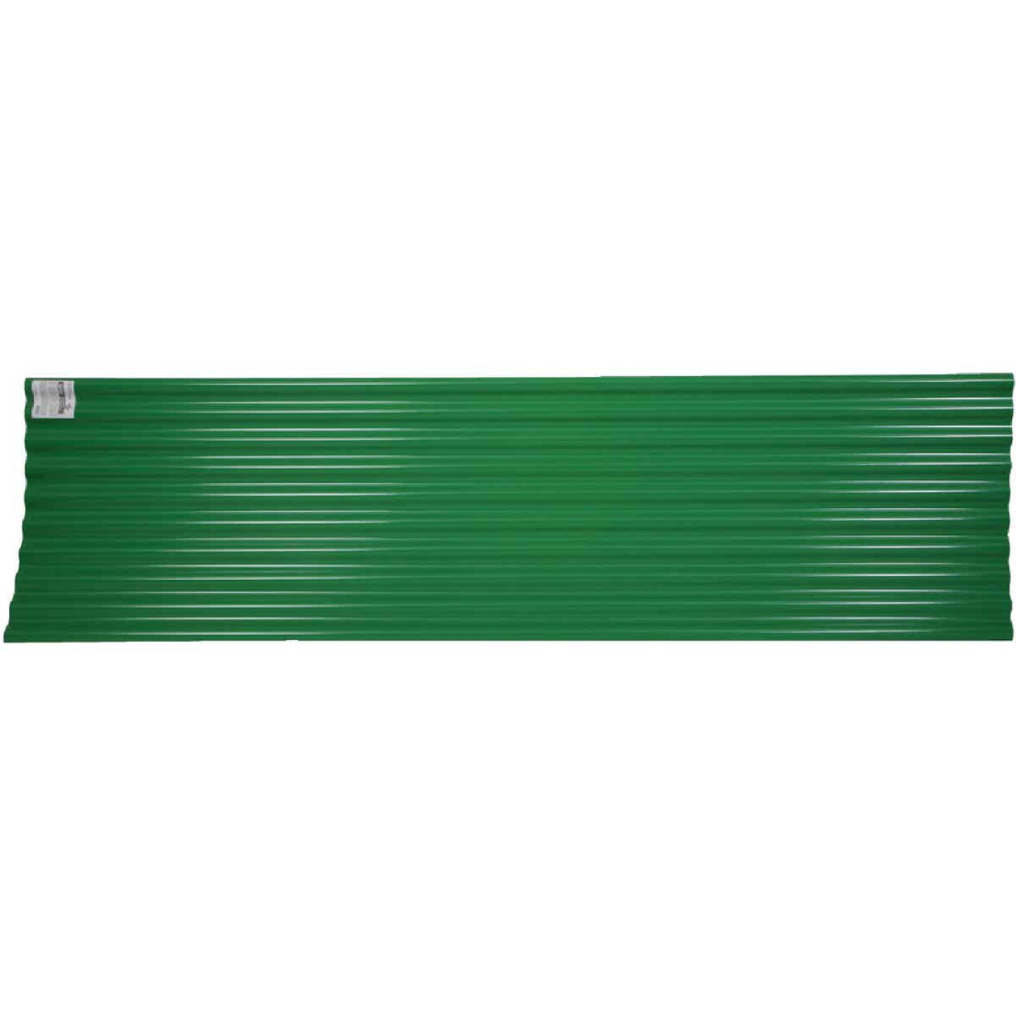 Tuftex Seacoaster 26 In. x 12 Ft. Opaque Green Round Wave  Vinyl Corrugated Panels Image 1
