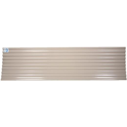 Tuftex UltraVinyl 26 In. x 12 Ft. Opaque Tan Square Wave Polycarb & Vinyl Corrugated Panels