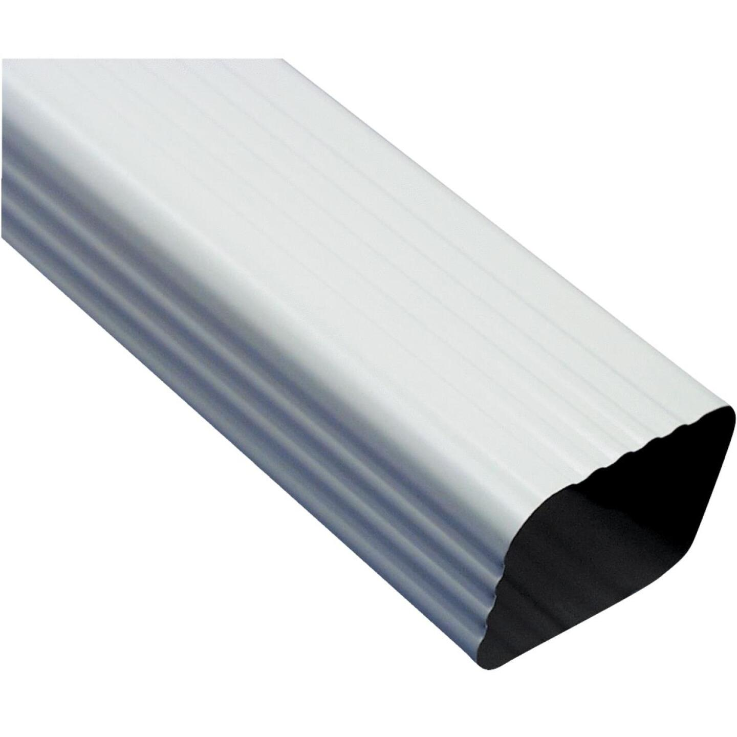 Amerimax 2 In. x 3 In. White Galvanized Downspout Image 1