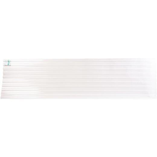 Tuftex PolyCarb 26 In. x 8 Ft. Translucent Clear Square Wave Polycarb & Vinyl Corrugated Panels