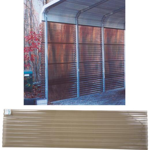 Tuftex PolyCarb 26 In. x 8 Ft. Translucent Smoke Square Wave Polycarb & Vinyl Corrugated Panels