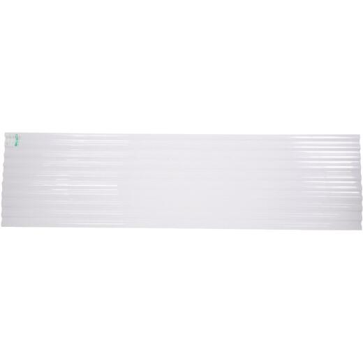 Tuftex PolyCarb 26 In. x 12 Ft. Translucent White Square Wave Polycarb & Vinyl Corrugated Panels
