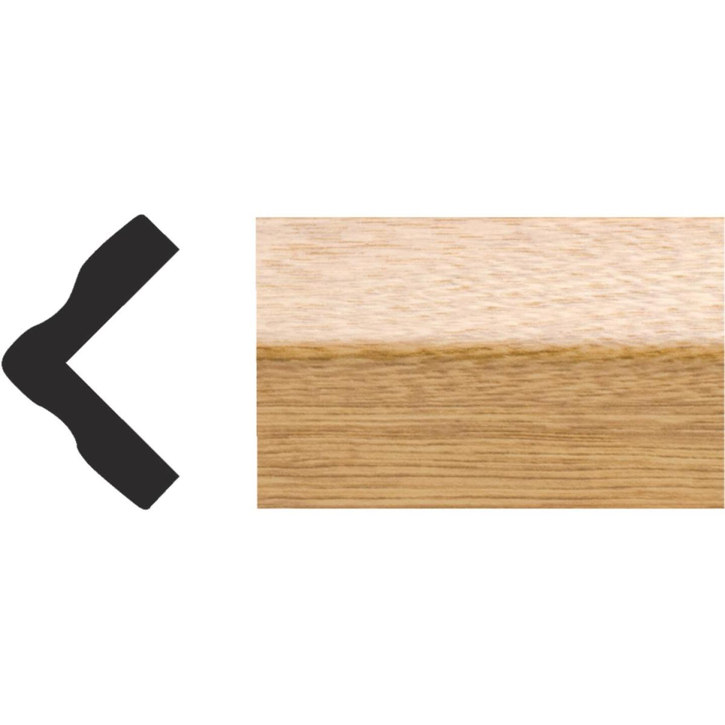 Royal 1 In. x 1 In. x 8 Ft. Imperial Oak PVC Interior Outside Corner Molding Image 1