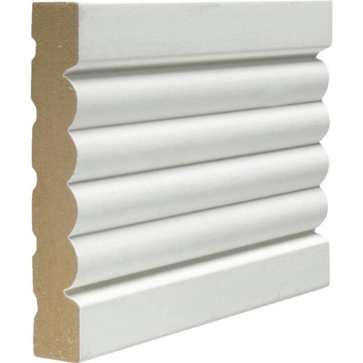 Cedar Creek 338 5/8 In. W. x 3-3/8 In. H. x 8 Ft. L. White MDF Fluted Casing Molding