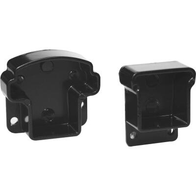 Gilpin Summit Black Aluminum Railing Mounting Rail Bracket (2-Pack)