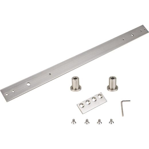 National Hardware Satin Nickel Steel Interior Barn Door Hardware Kit