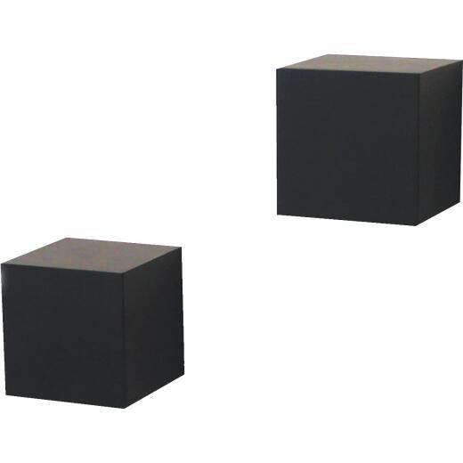 Knape & Vogt 2, 5 In. X 5 In. Black Floating Wood Wall Cubes