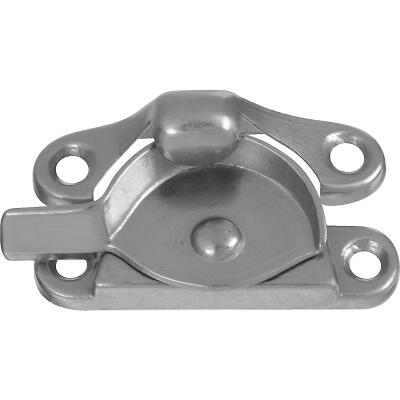 National Double Hung Satin Nickel Crescent Sash Lock