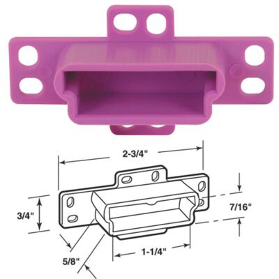 Prime-Line Nylon Purple Track Socket (2 Count)