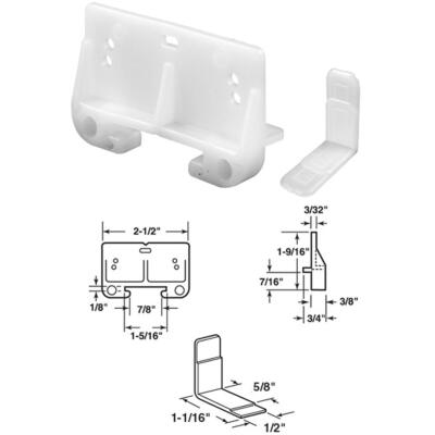 """Prime-LIne 1-1/4"""" x 1-15/16"""" Polyethylene Track Guide (2 Count)"""