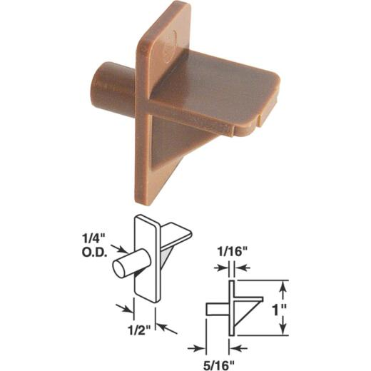 Prime-Line 1/4 In. Brown Plastic Shelf Support (8-Count)