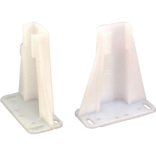 "United States Hardware 1-5/8"" 3"" Plastic Track Socket (2-Pack)"