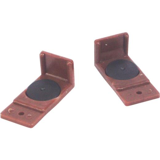 "United States Hardware Brown Plastic 1-3/4"" Drawer Glide (2-Pack)"