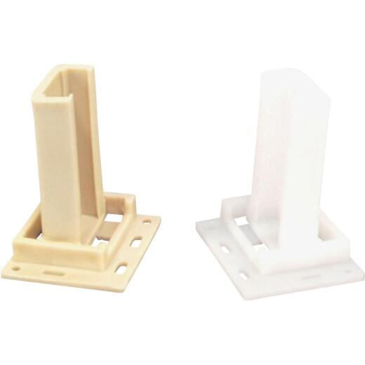 "United States Hardware 2-1/8"" Rear Plastic Track Socket (2-Pack)"