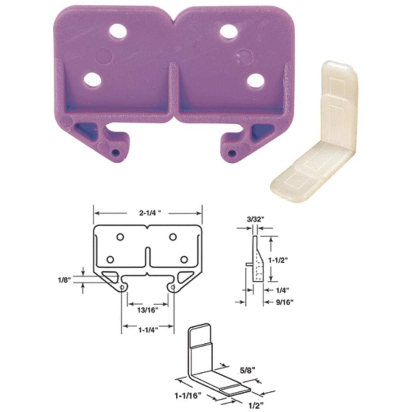 """Prime-Line 1-1/4"""" Polyethylene White Track Guide (2 Count) Image 1"""
