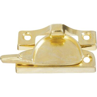 National Bright Brass Finished Die-Cast Zinc Crescent Sash Lock
