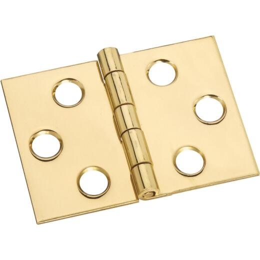 National 1-1/2 In. x 2 In. Brass Desk Hinge (2-Pack)