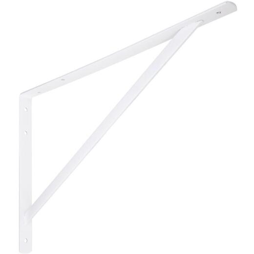 National 111 20 In. White Steel Super Strength Shelf Bracket