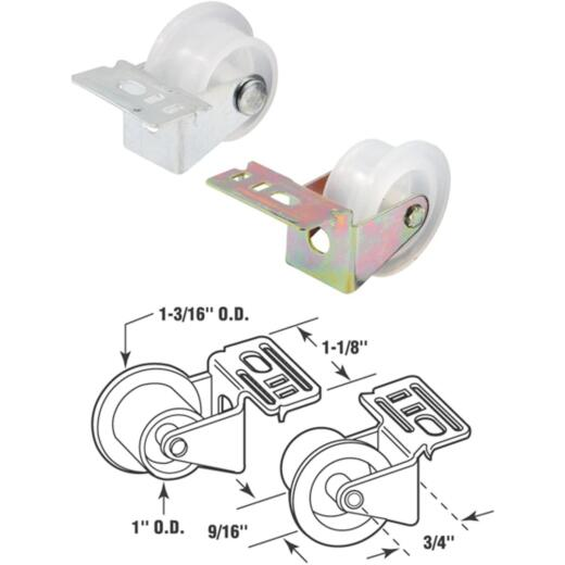 Prime-Line Steel White Nylon Front Drawer Roller