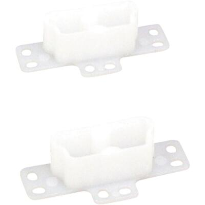 "United States Hardware 2-3/4"" Rear Plastic White Track Socket (2-Pack)"