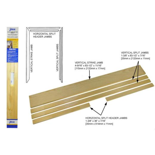 Johnson Hardware 1510 Series 36 In. To 80 In. Natural Pocket Door Frame