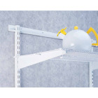 FreedomRail 16 In. White Twin Shelf Bracket Image 1
