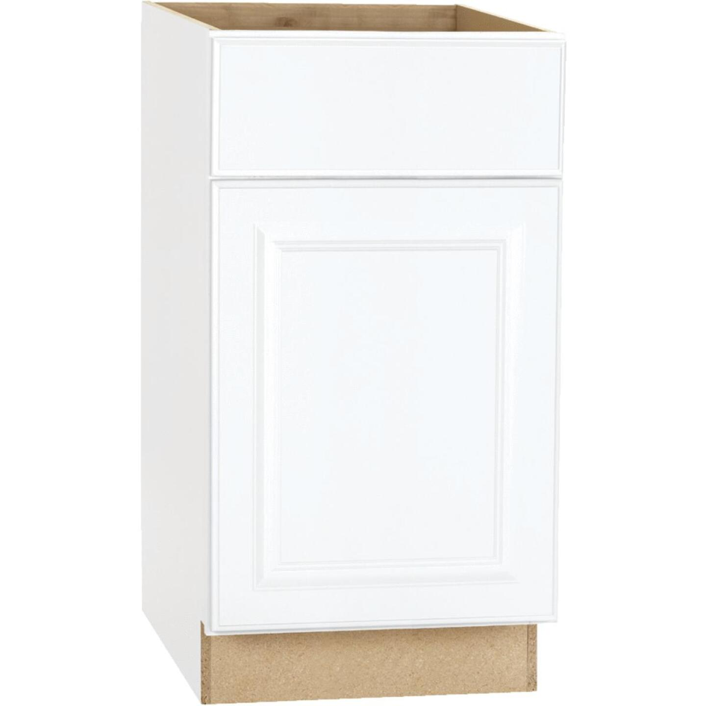 Continental Cabinets Hamilton 18 In. W x 34-1/2 In. H x 24 In. D Satin White Maple Base Kitchen Cabinet Image 2