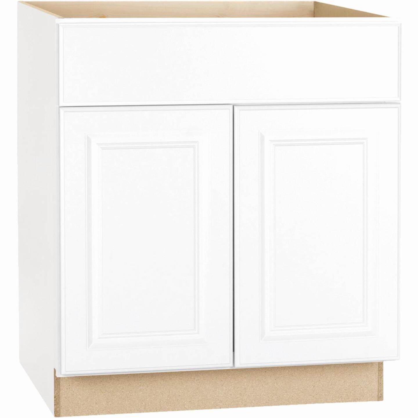 Continental Cabinets Hamilton 30 In. W x 34-1/2 In. H x 24 In. D Satin White Maple Base Kitchen Cabinet Image 2