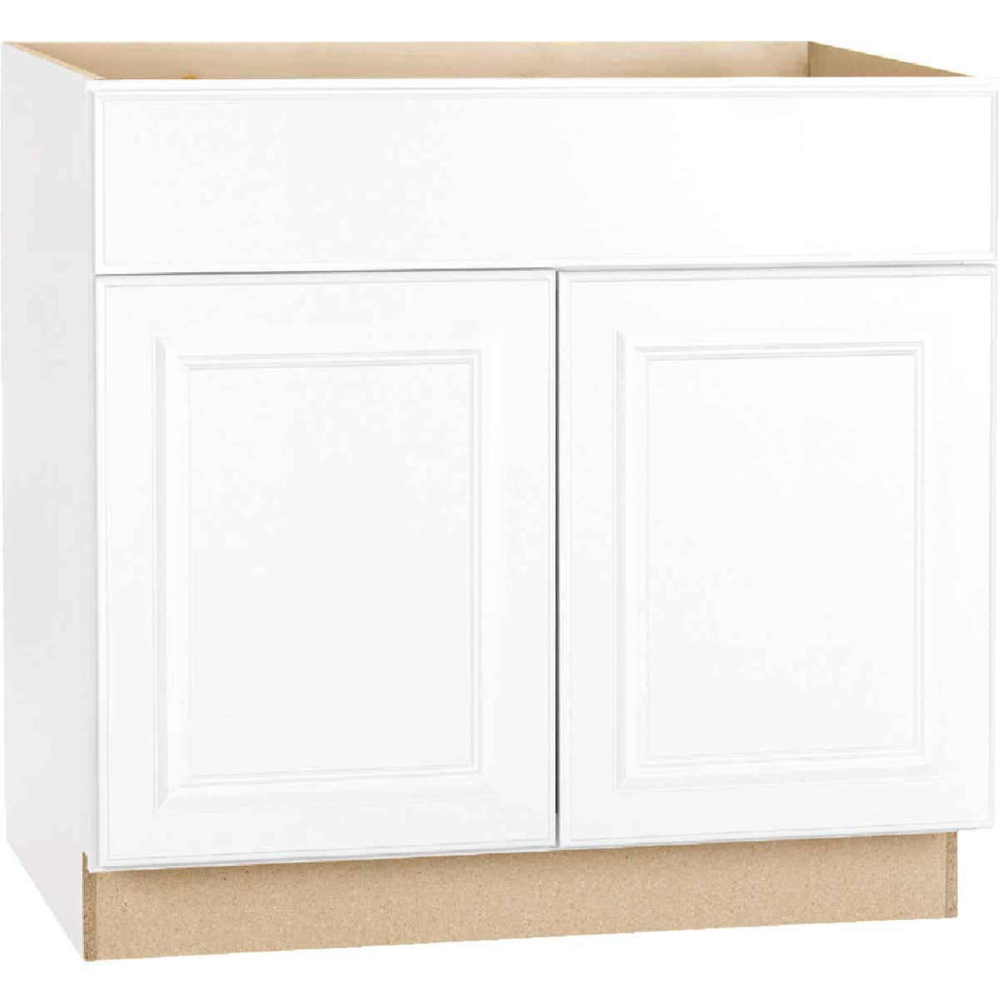 Continental Cabinets Hamilton 36 In. W x 34-1/2 In. H x 24 In. D Satin White Maple Base Kitchen Cabinet Image 3
