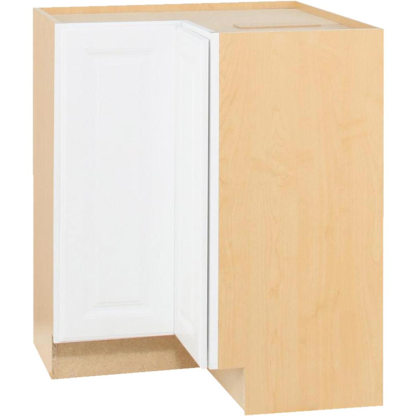 Continental Cabinets Hamilton 36 In. W x 34-1/2 In. H x 24 In. D Satin White Maple Lazy Susan Corner Base Kitchen Cabinet Image 3