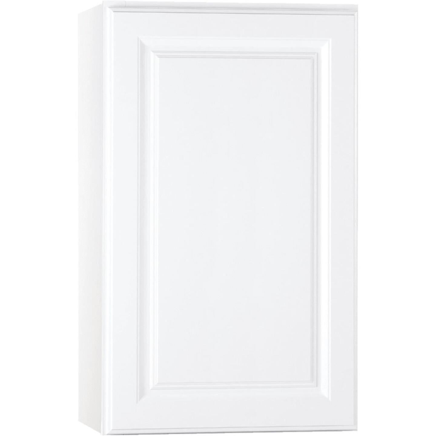 Continental Cabinets Hamilton 18 In. W x 30 In. H x 12 In. D Satin White Maple Wall Kitchen Cabinet Image 2