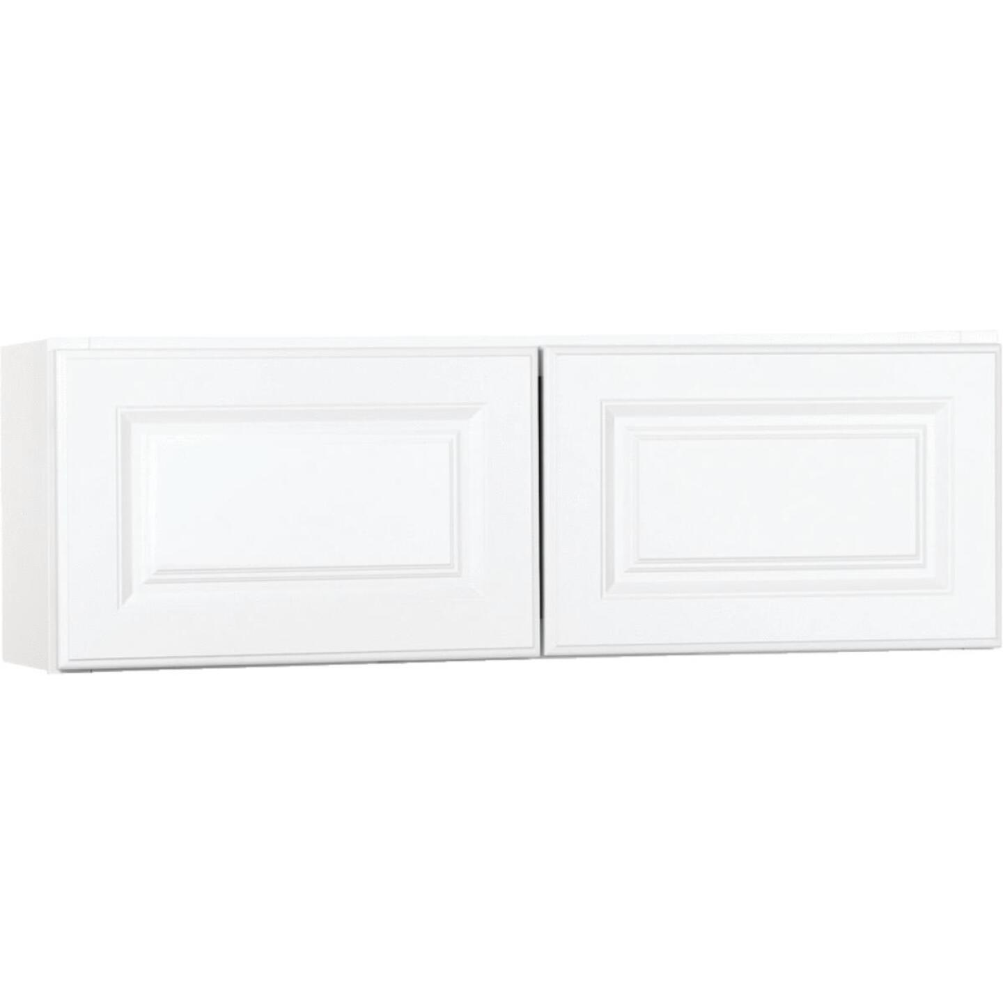 Continental Cabinets Hamilton 36 In. W x 12 In. H x 12 In. D Satin White Maple Bridge Wall Kitchen Cabinet Image 2