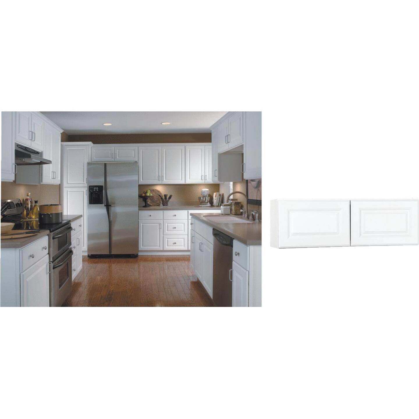 Continental Cabinets Hamilton 36 In. W x 12 In. H x 12 In. D Satin White Maple Bridge Wall Kitchen Cabinet Image 1