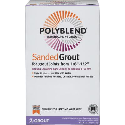 Custom Building Products Polyblend  7 Lb. Bright White Sanded Tile Grout