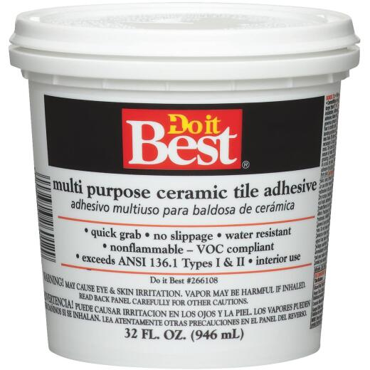 Do it Best Off-White Multi Purpose Ceramic Tile Adhesive (Quart)