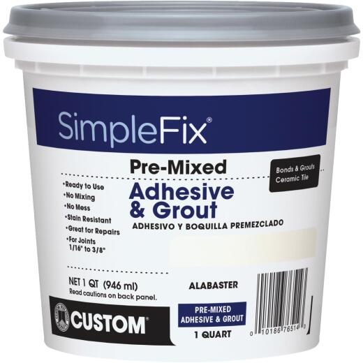 Custom Building Products Simplefix Quart Alabaster Sanded Tile Grout