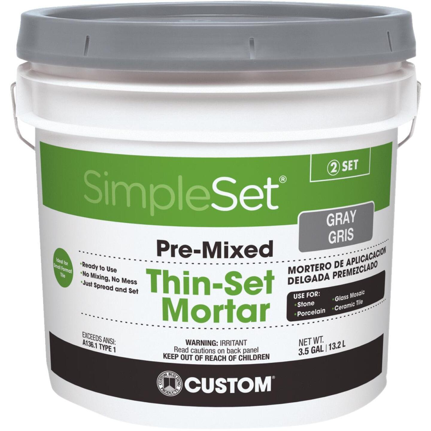 Custom Building Products SimpleSet 3.5 Gal. Gray Pre-Mixed Thin-Set Mortar Image 1