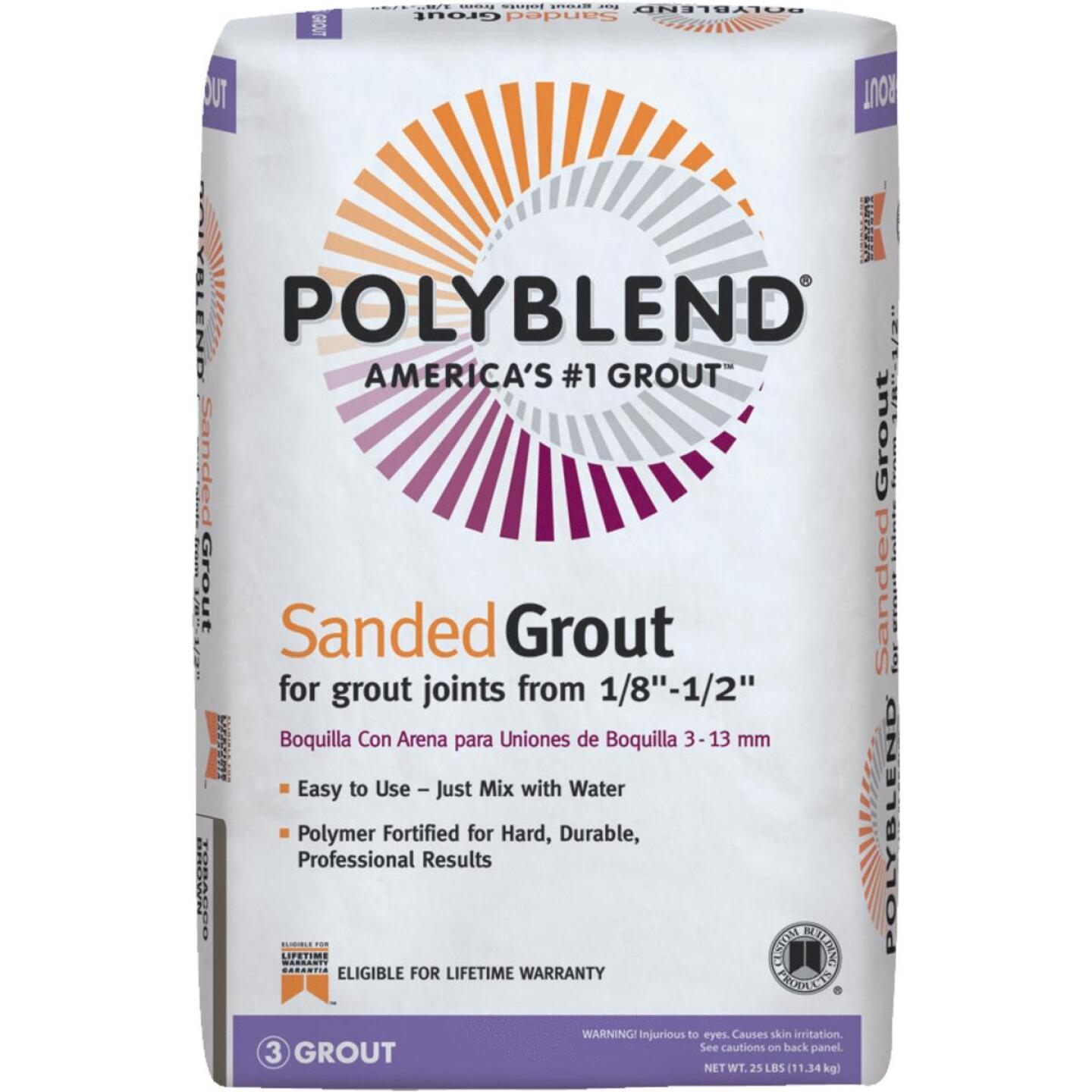 Custom Building Products Polyblend 25 Lb. Bright White Sanded Tile Grout Image 1