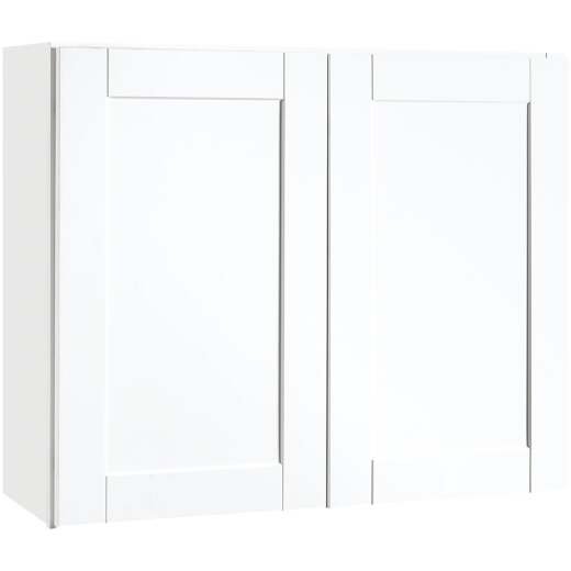 Continental Cabinets Andover Shaker 36 In. W x 30 In. H x 12 In. D White Thermofoil Wall Kitchen Cabinet