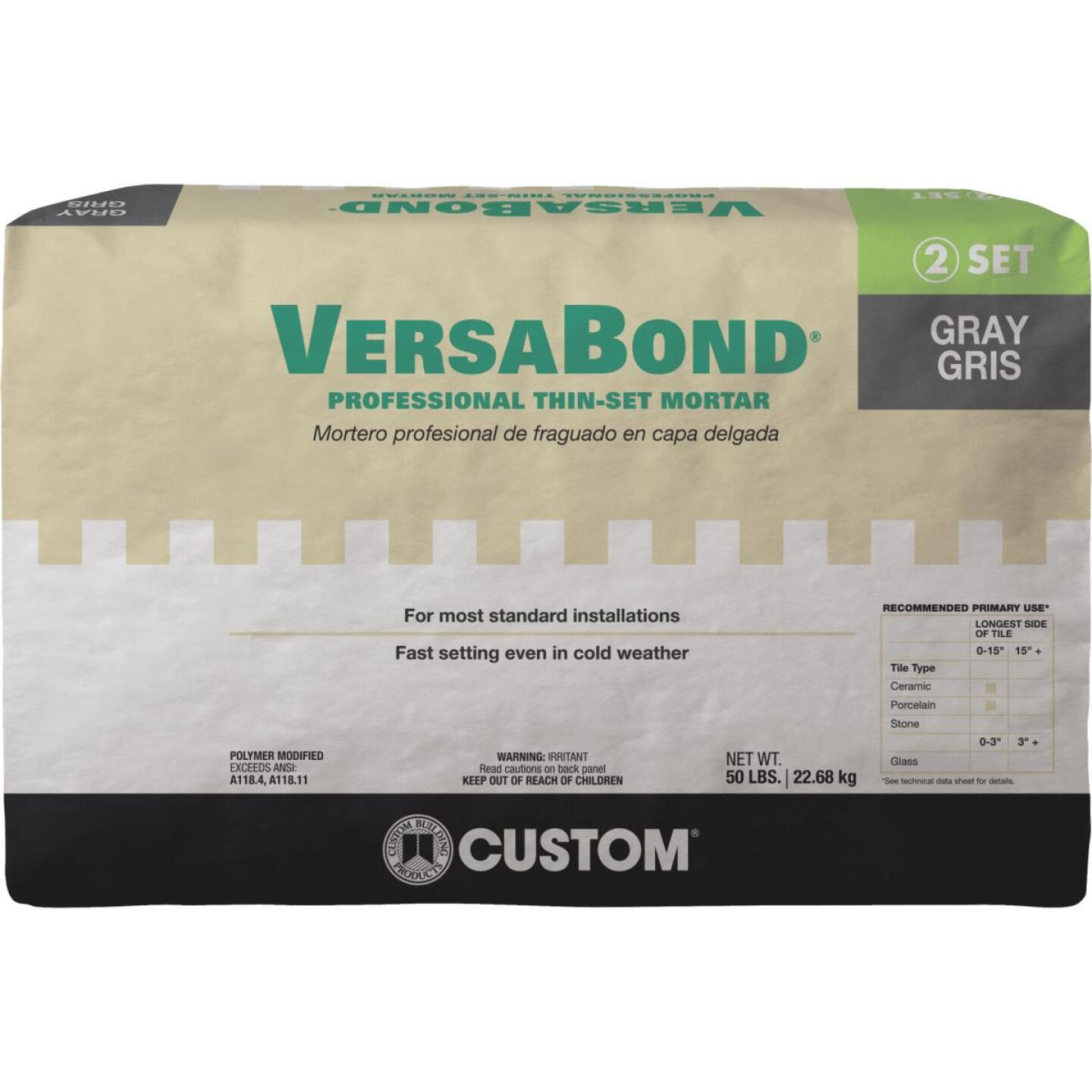 Custom Building Products VersaBond 50 Lb. Gray Fortified Thin-Set Mortar Image 1