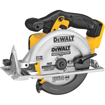 DeWalt 20 Volt MAX Lithium-Ion 6-1/2 In. Cordless Circular Saw (Bare Tool)