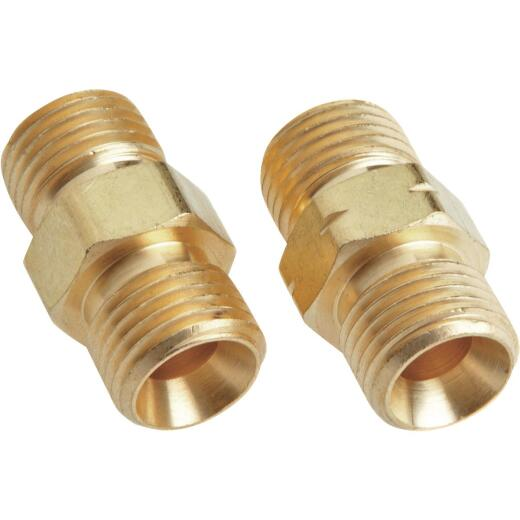 Forney 9/16 In.-18 Thread B Hose Coupler, (2-Pack)