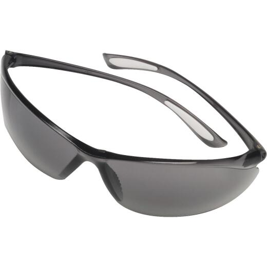 Safety Works Feather Fit Gray Frame Safety Glasses with Gray Lenses