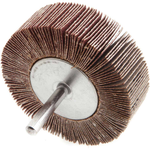 Forney 3 In. x 1/4 In. 120 Grit Shank Mounted Flap Sanding Wheel
