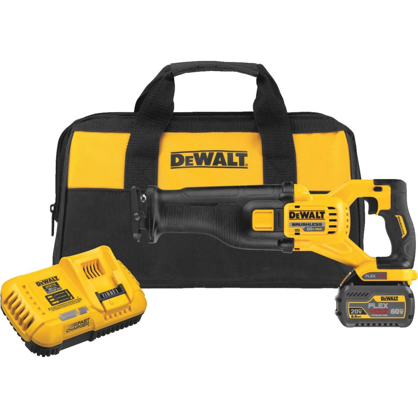 DeWalt Flexvolt 60-Volt MAX Lithium-Ion Brushless Cordless Reciprocating Saw Kit Image 1