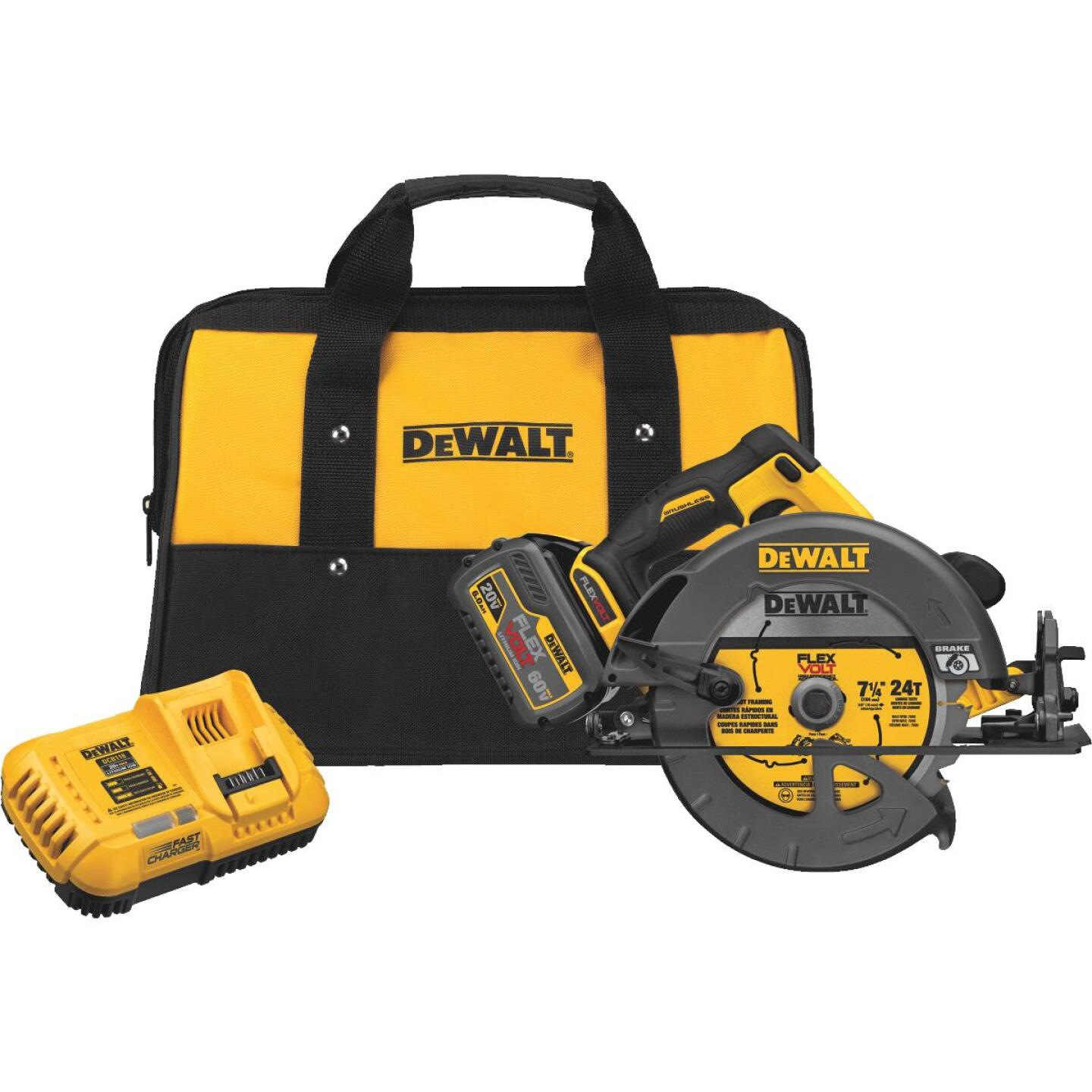 DeWalt Flexvolt 60 Volt MAX Lithium-Ion Brushless 7-1/4 In. Cordless Circular Saw with Brake Kit Image 1